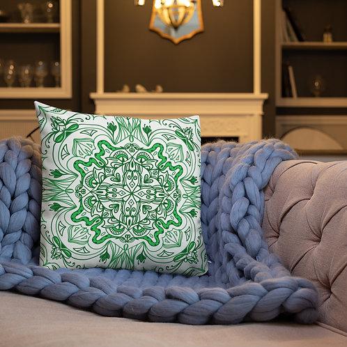 Green Snake - Premium Pillow