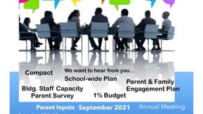 Title I  Input & Annual Meetings