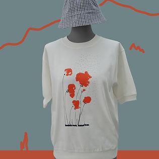 T-shirt Sweet Poppy en coton organique bio sérigraphié à la main - Tale - Paris