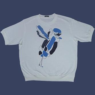 T-shirt Sweet Bird bleu roi et noir