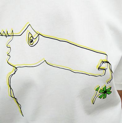Sérigraphie Sweet Monster sur t-shirt en coton bio