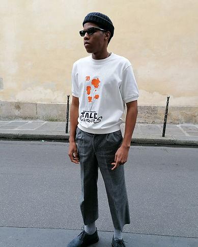 T-shirt sérigraphié et peint à la main- Tale-paris
