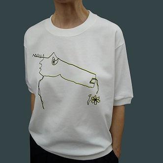 T-shirt sweet Monster, sérigraphie jaune et noir - coton bio - sérigraphie main  | Tale | Paris France