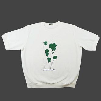T-shirt Sweet Poppy, sérigraphie vert sapin et noir - coton bio - sérigraphie main  | Tale | Paris France