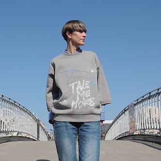T-sweater TALE me more X CANVAS, devant