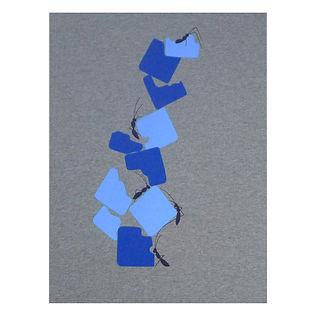 Sérigraphie Rooftop bleu azur et indigo - coton bio - Tale Paris