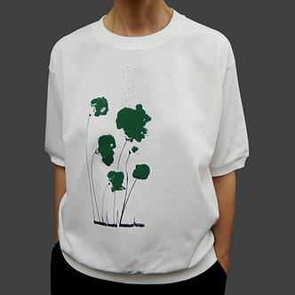 T-shirt Sweet Poppy, sérigraphie vert sapin et noir- coton bio - sérigraphie main  | Tale | Paris France