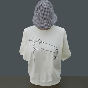 T-shirt Sweet Monster en coton organique bio sérigraphié à la main - Tale - Paris