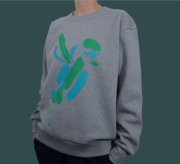 Sweat Bird vert menthe et bleu argile
