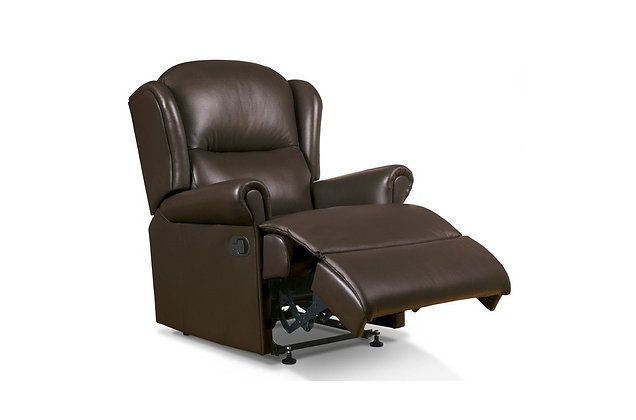 Monty Leather Small Recliner Chair
