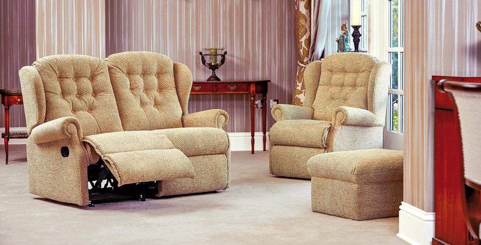 Lambeth 2 Seater Recliner Sofa, Armchair & Footstool