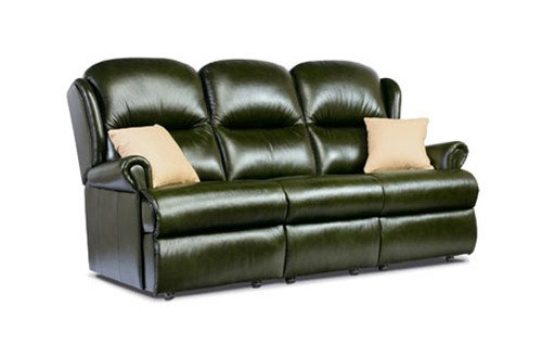 Monty Leather Small 3 Seater Sofa
