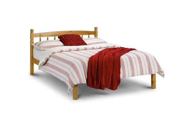 Spindle Pine Wooden 120cm Small Double Bedstead