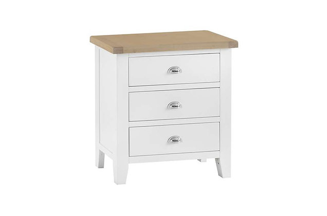 Country 3 Drawer Chest (Wimborne White)