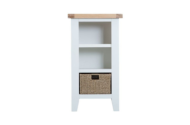 Country Small Narrow Bookcase (Wimborne White)