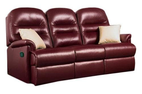 Seaton Leather Standard 3 Seater Recliner Sofa
