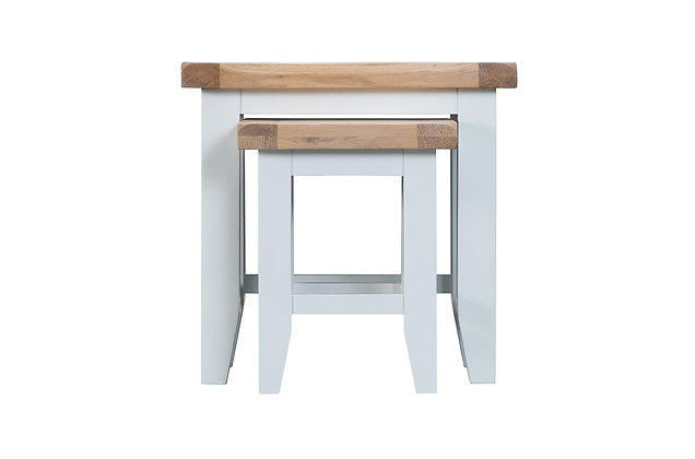 Country Nest of 2 Tables (Wimborne White)