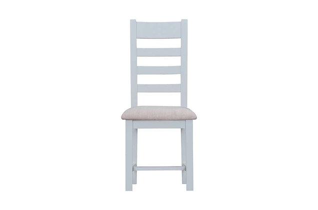 Country Ladder Back Chair Fabric Seat (Ferndown Grey)