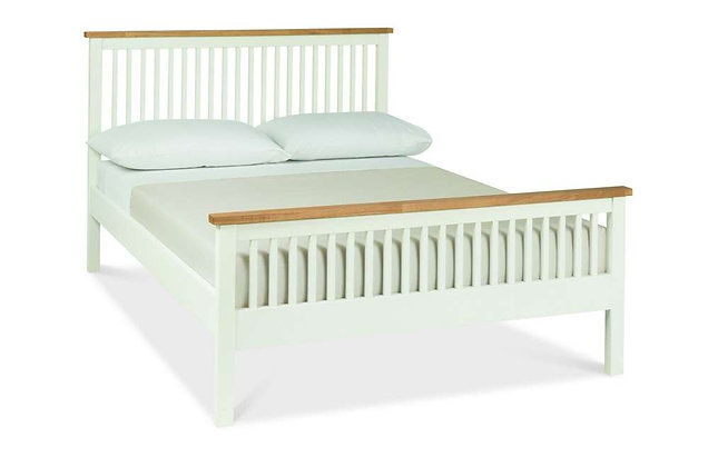 Atlanta Two Tone 150cm King Size High Foot End Bedstead