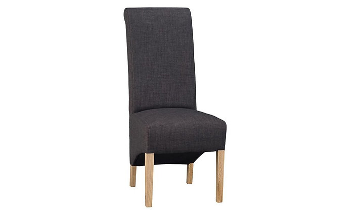 Paris Roll Top Fabric Upholstered Dining Chair