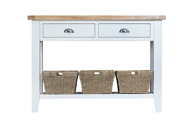 Country Large Console Table (Wimborne White)