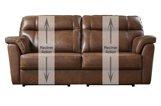 Burlington Leather 3 Seater Recliner Sofa