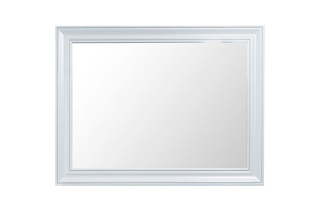 Country Large Wall Mirror (Wimborne White)