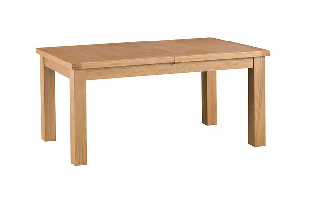 Naples Rustic Oak 1.7m Butterfly Extending Dining Table