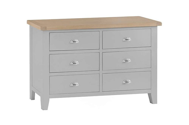 Country 6 Drawer Chest (Ferndown Grey)