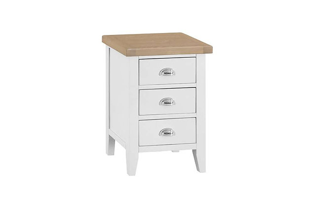 Country 3 Drawer Bedside (Wimborne White)
