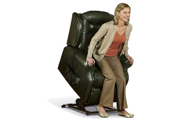 Lambeth Leather Small Lift & Rise Care Recliner Chair