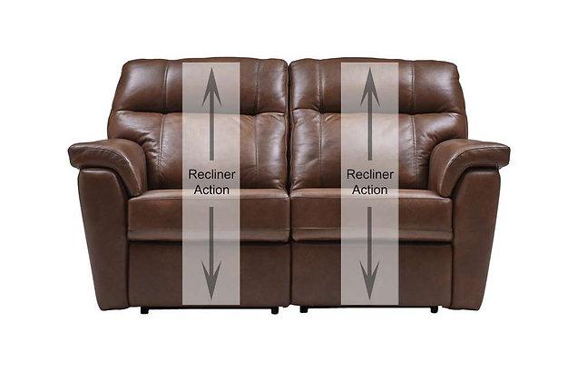 Burlington Leather 2 Seater Recliner Sofa