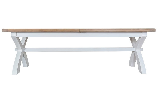 Country 2.5m Cross Extending Table (Wimborne White)