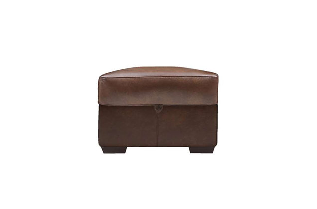 Burlington Leather Storage Footstool