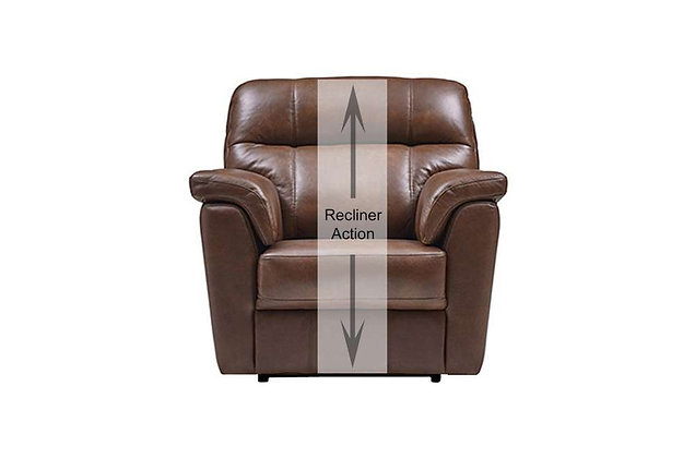 Burlington Leather Recliner Chair