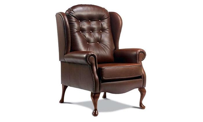 Lambeth Leather Legged Fireside Chair