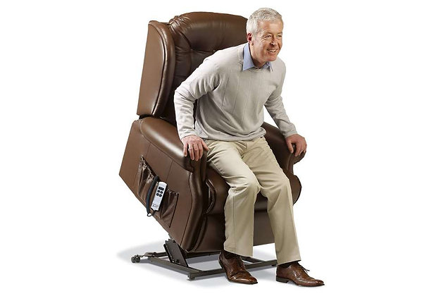 Lambeth Leather Royale Lift & Rise Care Recliner Chair