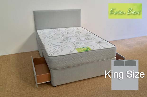 Eden Beds Orchid King Size 2 Drawer Divan