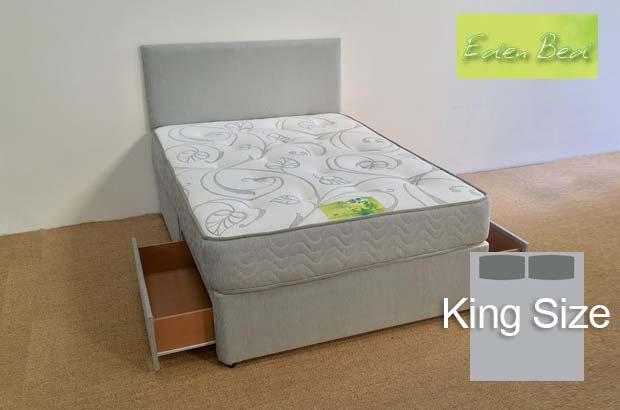 Eden Beds Jasmine King Size 2 Drawer Divan