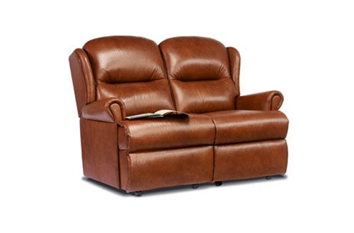 Monty Leather Small 2 Seater Sofa