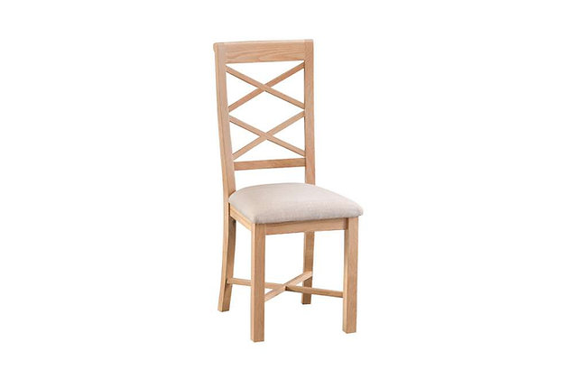 Hawkley Cross Back Dining Chair with Fabric Seat