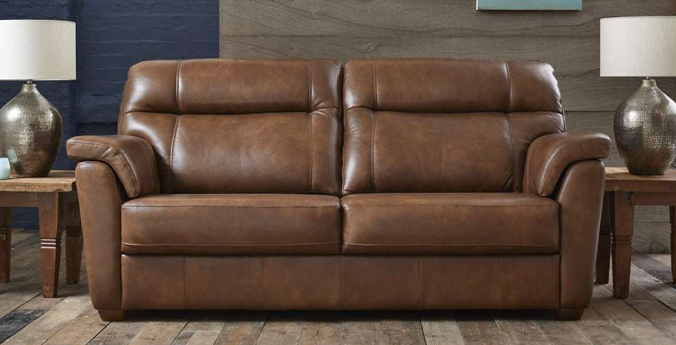 Burlington Leather 2 Seater Sofa
