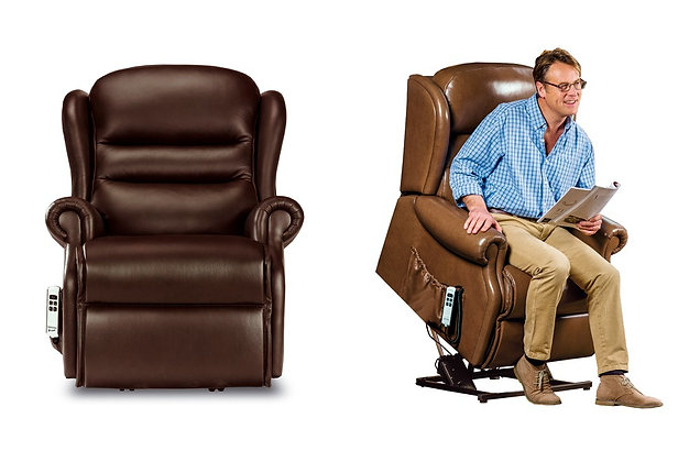 Vienna Leather Small Lift & Rise Care Recliner