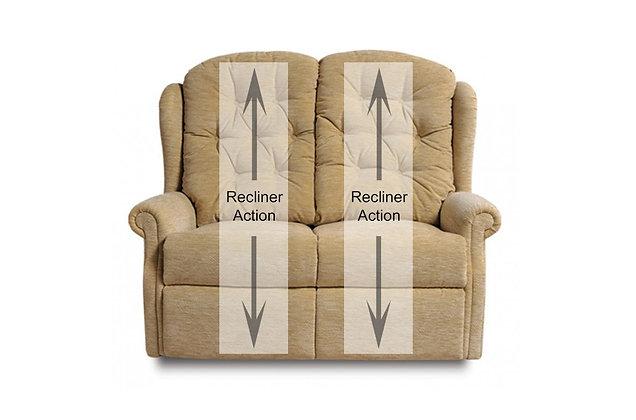 Newbury 2 Seater Double Manual Recliner Sofa