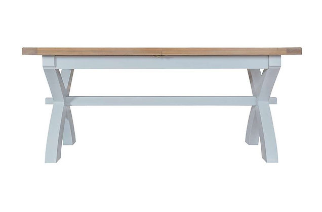 Country 1.8m Cross Extending Table (Ferndown Grey)