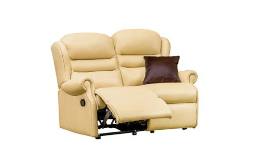 Vienna Leather Small 2 Seater Recliner Sofa