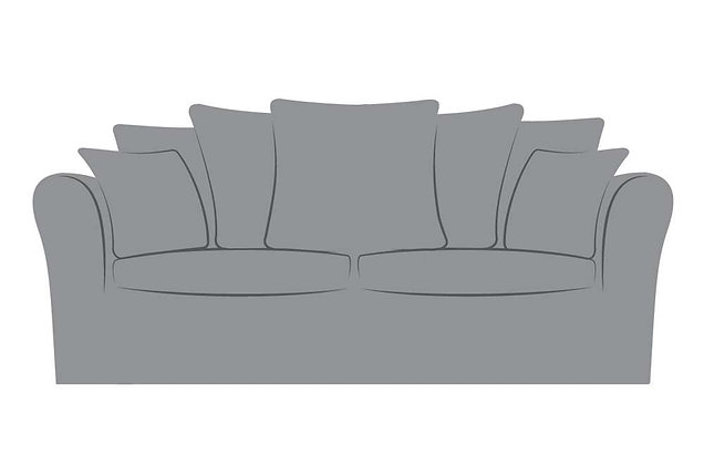 Reimes 3 Seater Pillow Back Sofa