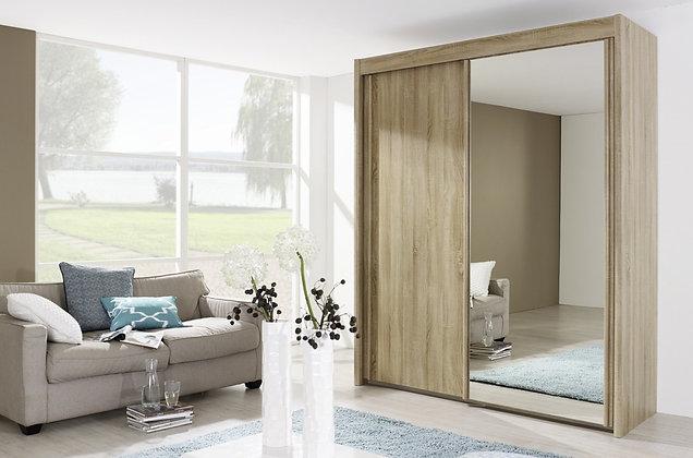 Deluxe Sliding Door Wardrobe - San Remo Oak Finish