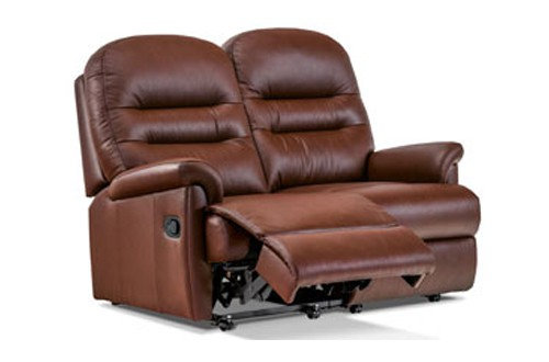 Seaton Leather Standard 2 Seater Recliner Sofa