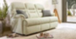 Seaton 3 Seater Fabric Sofa